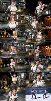 Tekken 7 mod Tifa FF7R Pack All other girls