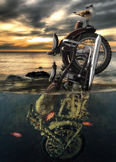 Mοτοσυκλέτα και ζωγραφική !!!!!!! Motorcycle_by_oilcorner