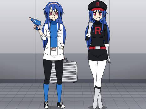 AnimeArtist154Ever's Kisekae self and Team Rocket