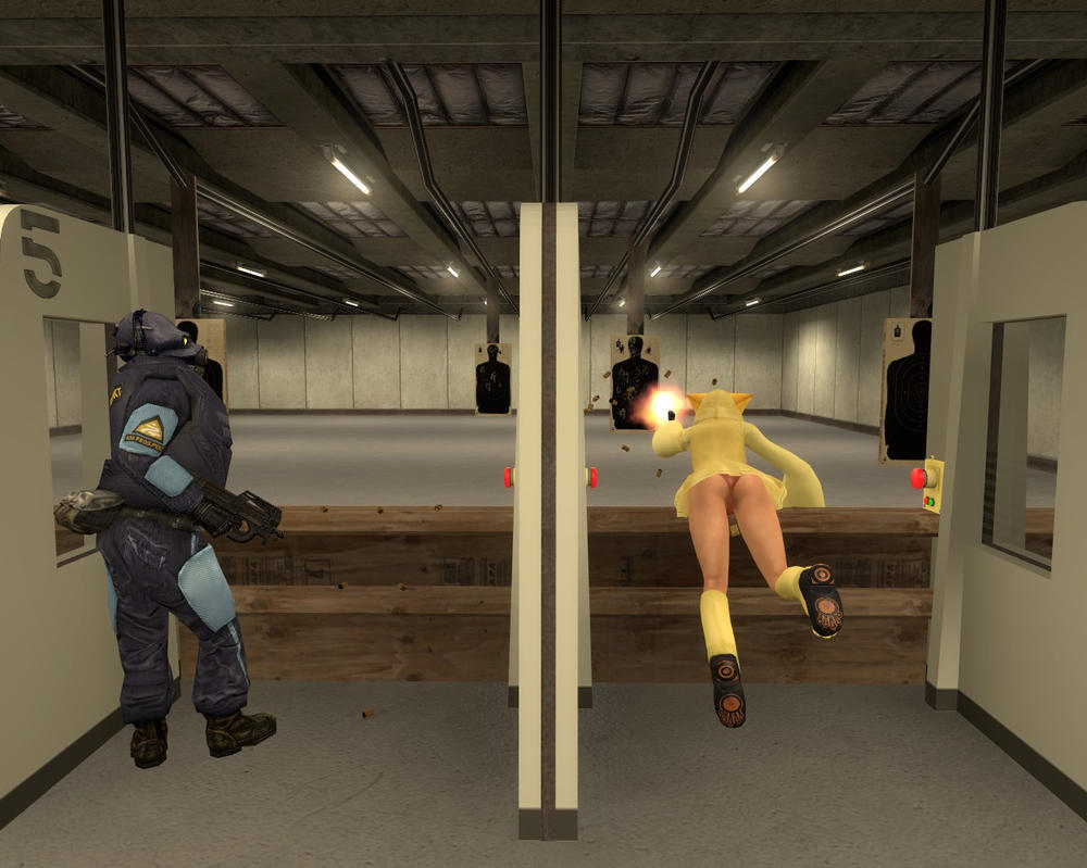 Trying To Be A Pro In The Shooting Range by Stealth47