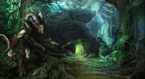 Satyr at the Wildherz Caves - Drakensang