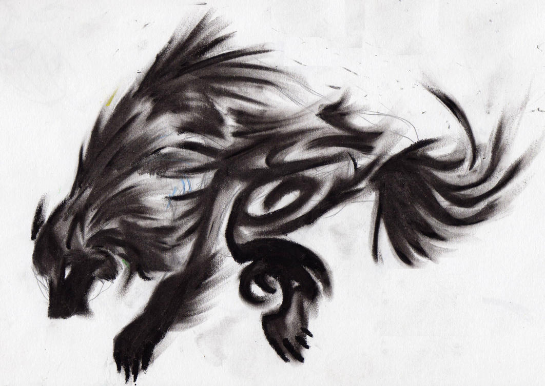 Shadow Wolf By Red Panda