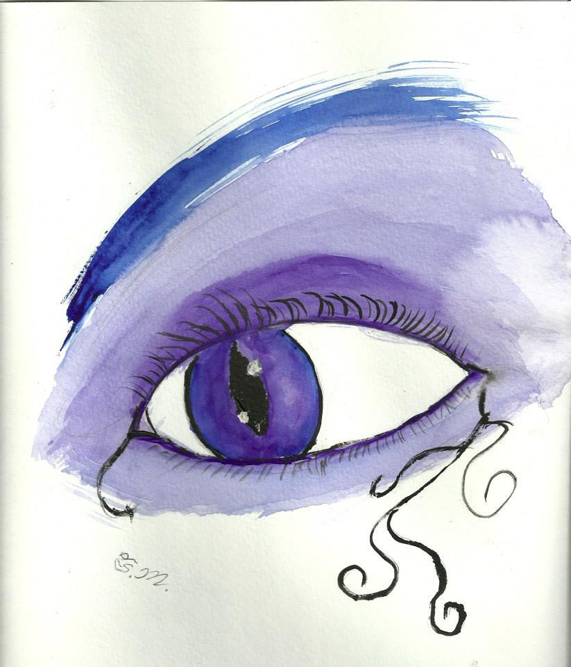 Purple eye by Mischievous-Princess