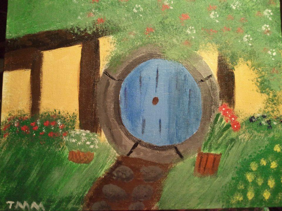Hobbit hole (canvas painting) by Mischievous-Princess
