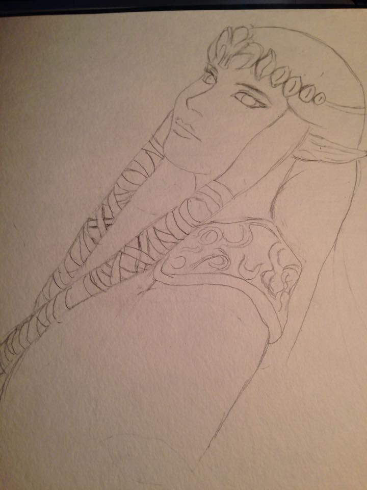 Princess Zelda sketch (in process) by Mischievous-Princess