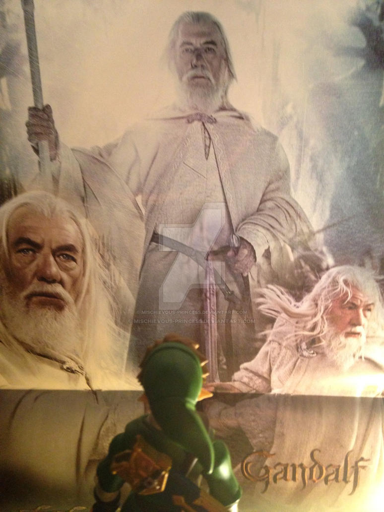 Link sees Gandalf  by Mischievous-Princess