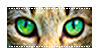 [Stamp] Green Cat Eyes 2 by AestheticallyLithi