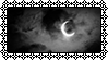 [Stamp] Cloudy Crescent Moon