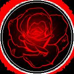 [Circle] Glowing Red Rose
