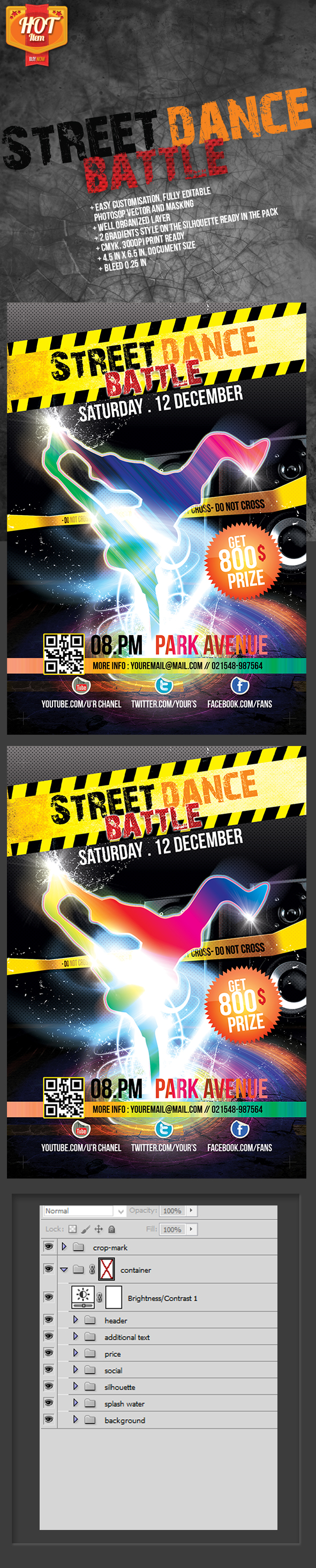Street Dance Battle Flyer by samsulsekawan