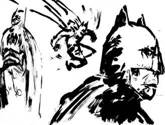 Bocetos de Batman