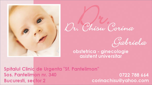 business card baby pink by artnouvelle