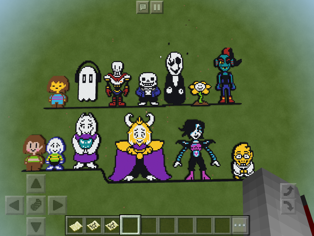 Minecraft Pixel Undertale all characters by ElementaDimension on ... for All Minecraft Characters  61obs