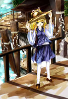 Suwako's Temple Of The East Wind by kareyare