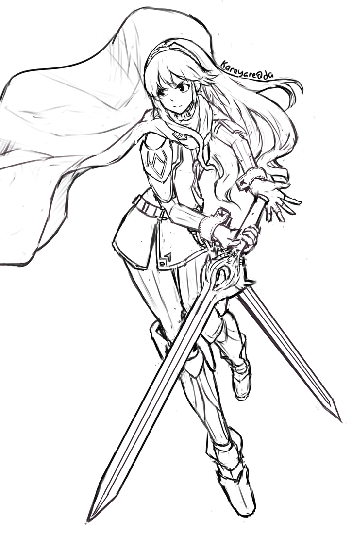 lucina sketch by kareyare