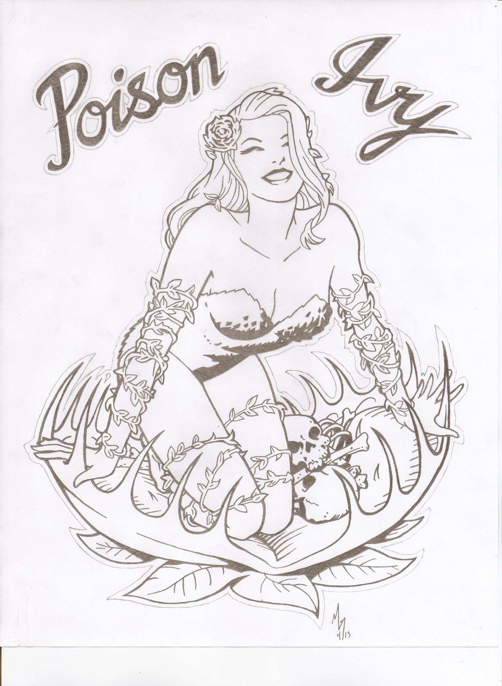 poison ivy tattoo print by mando mickster on deviantart