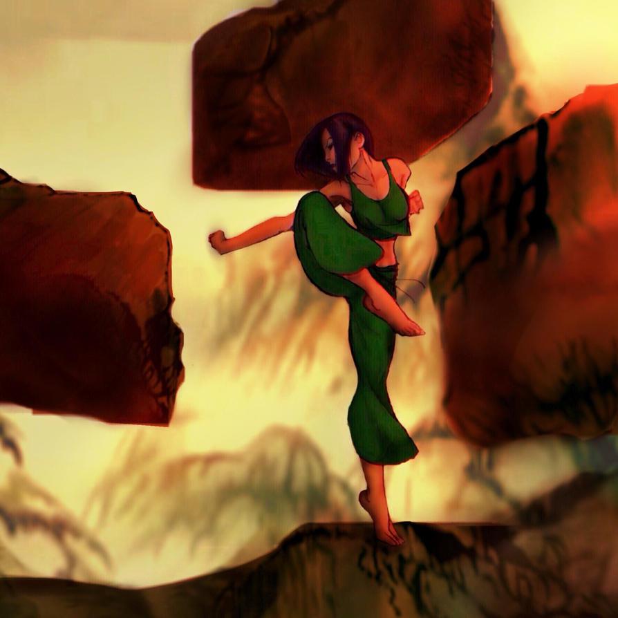 Earth bending training by Idathedrawinggirl