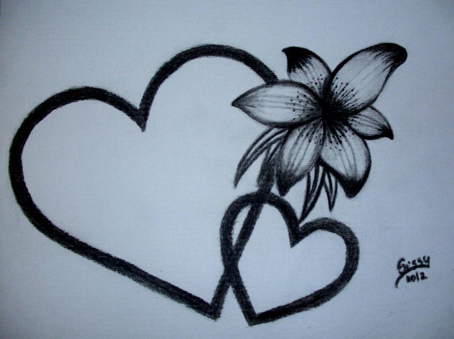 Pencil Drawings Of Hea...