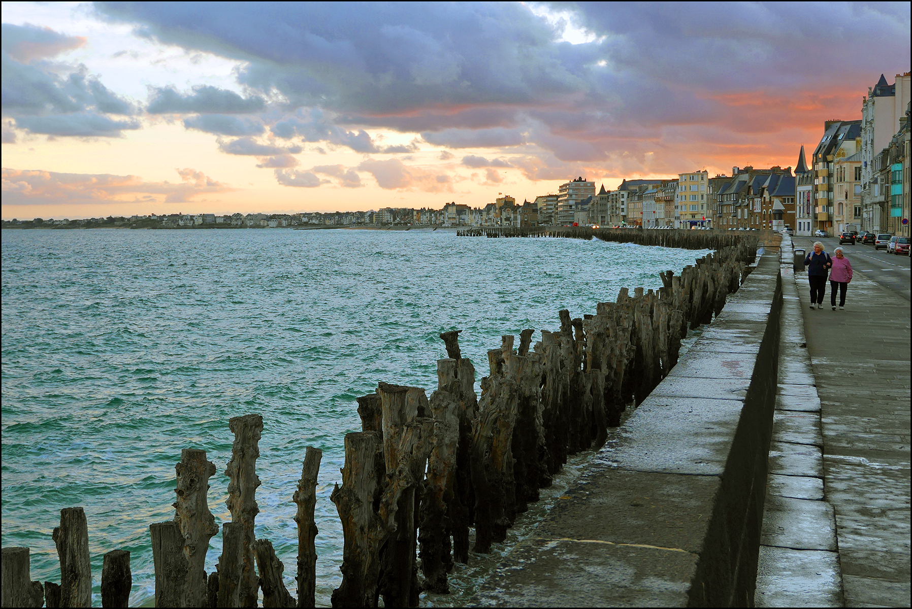 Sunrise Saint Malo, with Twiglets by sags