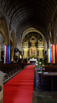 Church Interior Auray, France. by sags