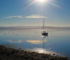 Low Tide at Findhorn Scotland by sags