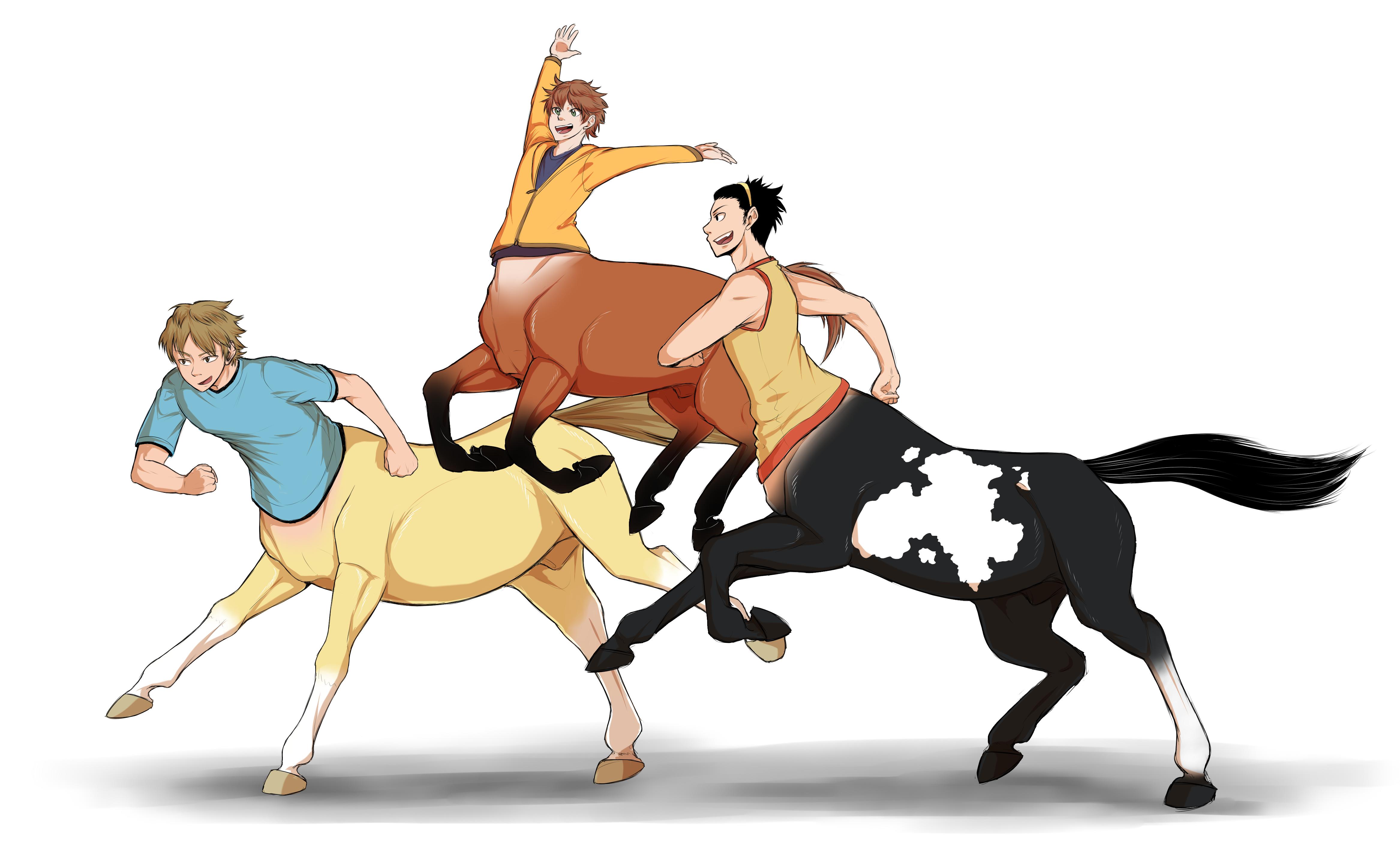 Baka Trio Centaurs by Abby-desu on DeviantArt