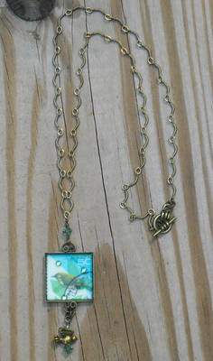 Little Green Bird necklace