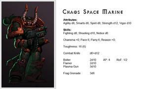 Warhammer40k - Enemy - Chaos - Space Marine