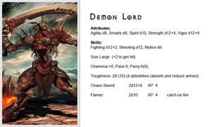 Warhammer40k - Enemy - Chaos - Demon Lord