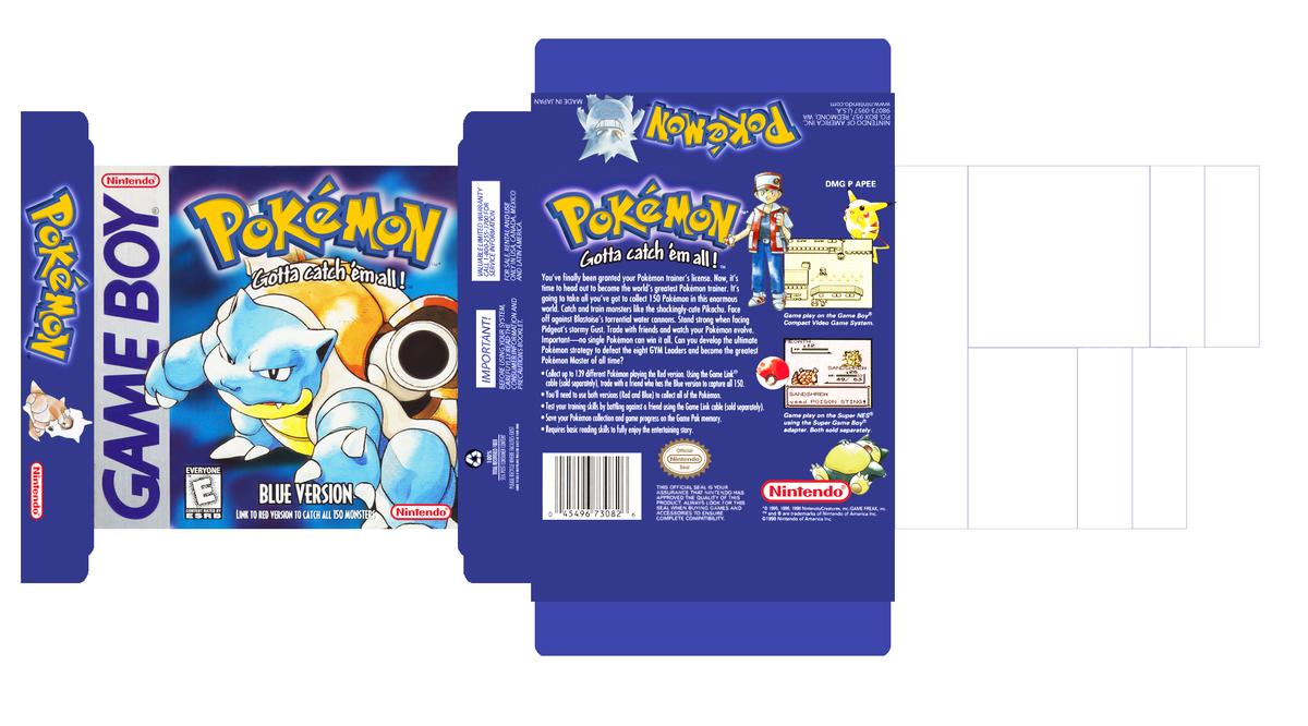 Pokemon Blue Box Art By AlexMercury16 On DeviantArt