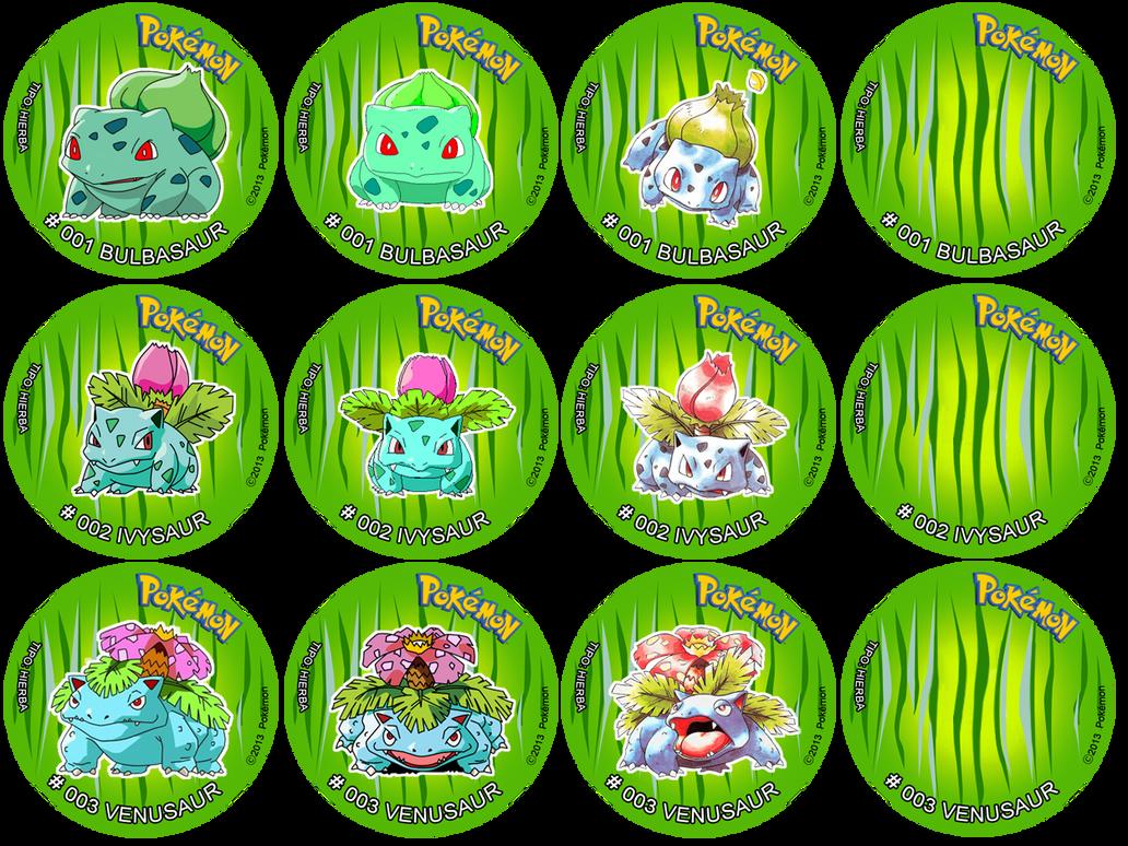 Pokemon Tazos Bulbasaur Ivysaur Venusaur 379990227