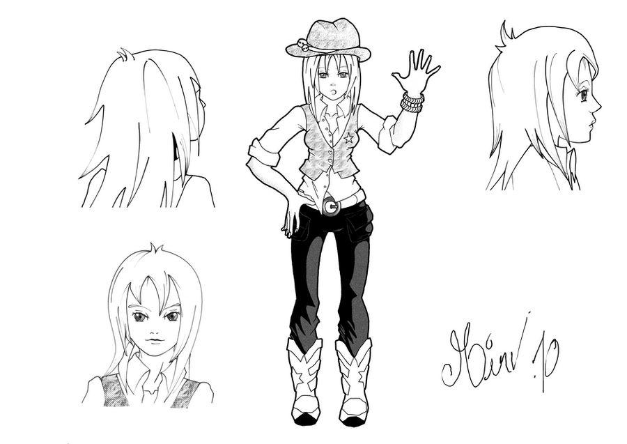 Main character cow-girl