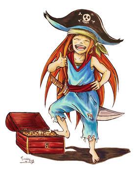 Happy pirate