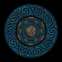Celtic Knotwork Wode and Gold