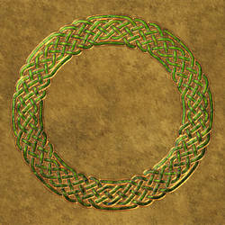 Gold Leaf Celtic Outline by Robohippyv2