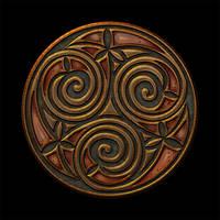 Celtic Knotwork Trispiral 2
