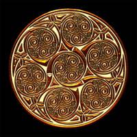 Celtic Knotwork Spiral Group