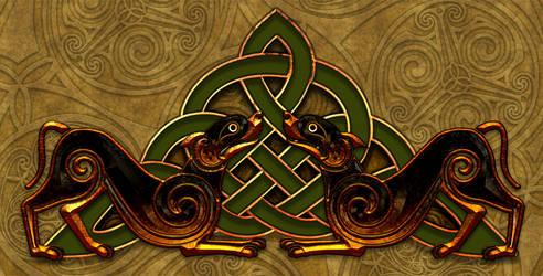 Celtic Knotwork Dogs