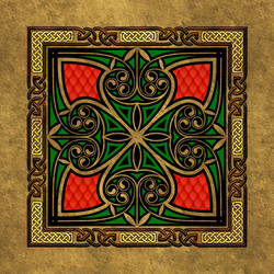 Celtic Knotwork Square Hearts by Robohippyv2