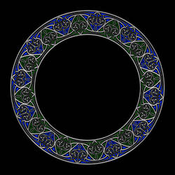 Celtic Knotwork Heart Circle 2 Tone by Robohippyv2
