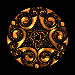 Celtic Knotwork Spirals and Triangles by Robohippyv2