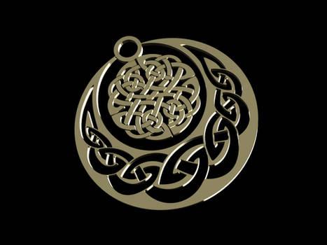 Celtic Knotwork Earring Twin