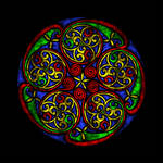 Celtic Knotwork Glass by Robohippyv2