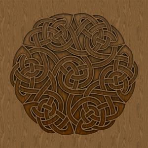 Celtic Knotwork Clover Six