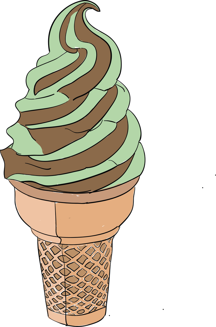 Mint Chocolate Cone by fishyawesomeness