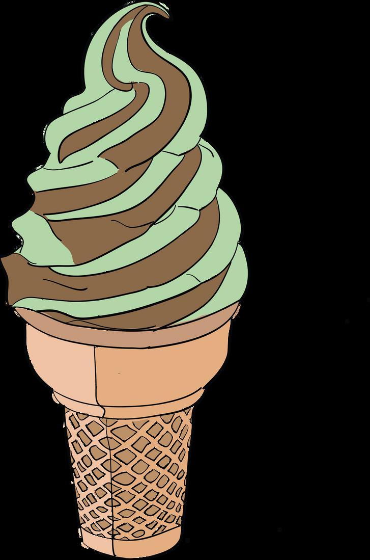 Mint Chocolate Cone by fishyawesomeness