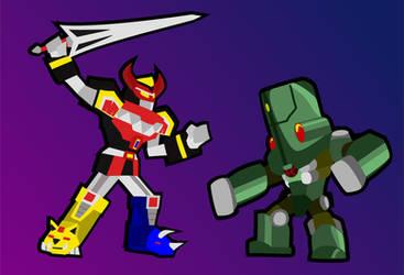 Papercraft Giant Robots by Allodoxa85