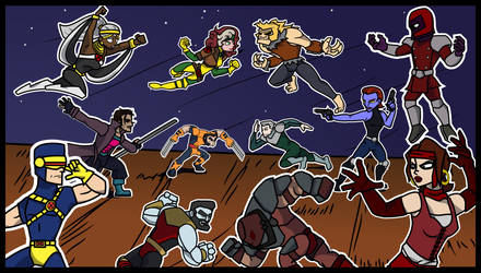 Xmen versus the Brotherhood 90's cartoon by Allodoxa85