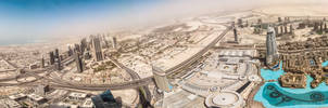Panorama from Burj Khalifa (Dubai, UAE)