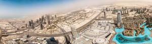 Panorama from Burj Khalifa (Dubai, UAE)